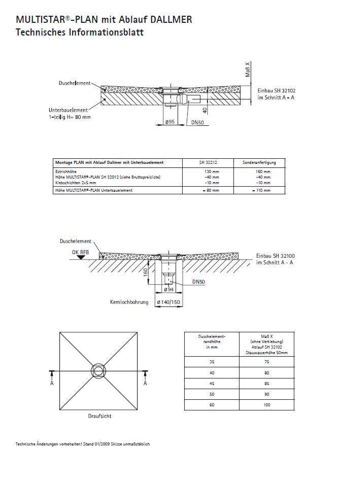 SCHEDEL MULTISTAR<sup>®</sup> PLAN für Bodenablauf DALLMER