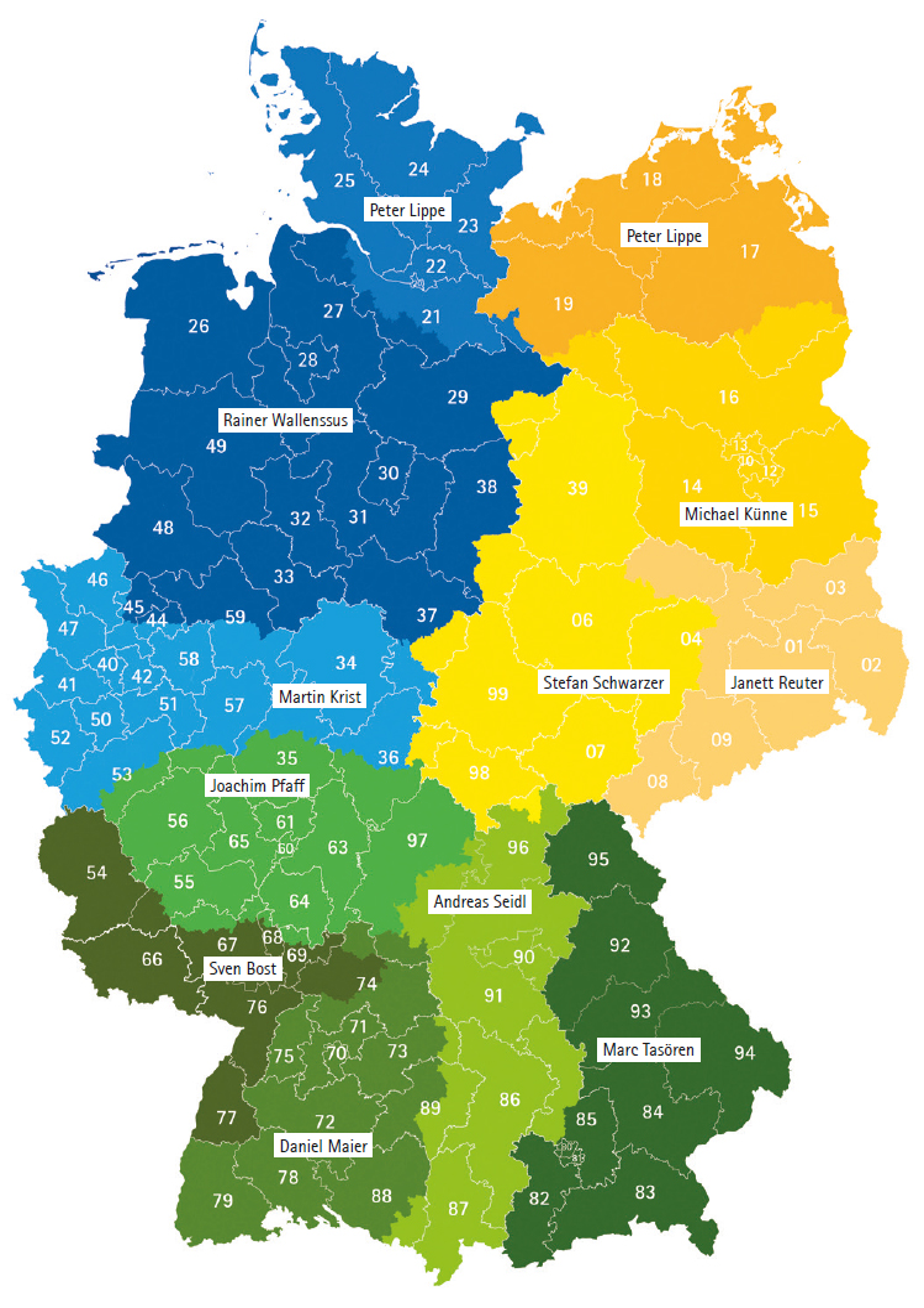 Gebietskarte Schedel Vertrieb Deutschland