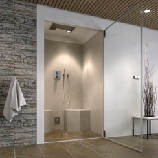 Steam-cubicleswith integrated shower area