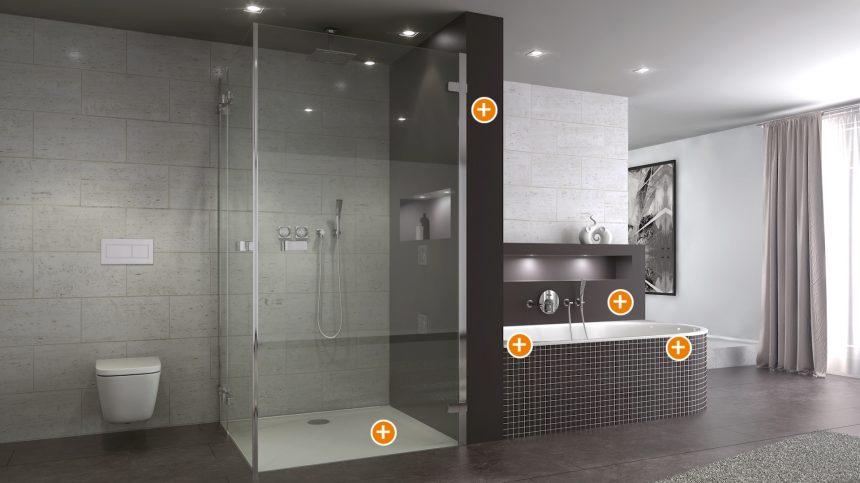 module f r dusche und wanne schedel bad design gmbh. Black Bedroom Furniture Sets. Home Design Ideas