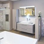 WaschSalon Bautzen - die Badausstellung vom Handelshof Bautzen: als stilvolle Ablage und Raumteiler, WC-Schamwand Element, befliesbar