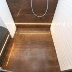 WaschSalon Bautzen - die Badausstellung vom Handelshof Bautzen: Dusche mit Schedel Sitzelement befliest